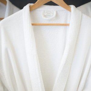 Velour bathrobe