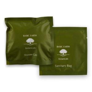 Basic Earth shower cap and sani bag